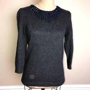J. Crew beaded neckline sweater